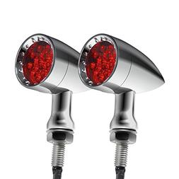 Senkauto Red CNC Motorcycle Bullet LED Turn Signal Light Bli