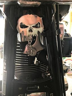 Skull Bell Hanger / Mount for Motorcycle Bolt & Ring Include