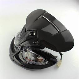 Streetfighter Stunt Black Head Light with Brackets for Motor