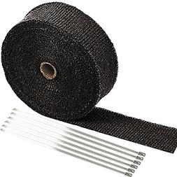 "SunplusTrade 2"" x 50' Black Exhaust Heat Wrap Roll for Motor"