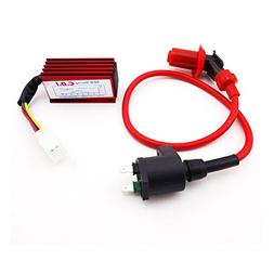 TC-Motor Performance Red Ignition Coil + Racing 5 Pin AC CDI