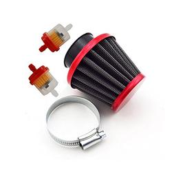 TC-Motor Red Motorcycle 38mm Air Filter Fuel Cleaner For 50c