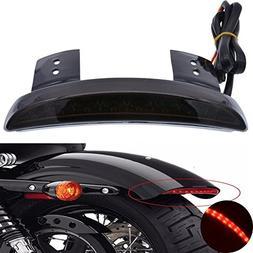 TUINCYN Motorcycle Smoke Lens Chopped Rear Fender Edge Plate
