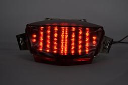 Topzone Moto Smoked Lens Motorcycle Led Taillights Brake Tai