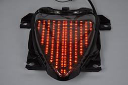 Topzone Moto Clear Lens Motorcycle Led Taillights Brake Tail