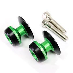 Twall Green 10MM CNC Swingarm Spools For Kawasaki Ninja 300