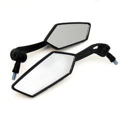 Universal Fit Adjustable Mirror Set - 10mm RH/RH Thread - Fl