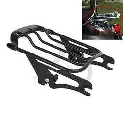 XFMT Black Air Wing Two Up Luggage Rack For Harley HD Tourin