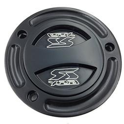 XKMT- Motorcycle Black Keyless Gas Cap Twist Off Fuel Tank C