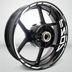Yamaha FZ07 Gloss White Motorcycle Rim Wheel Decal Accessory