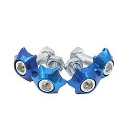 Uxcell a17030700ux0256 4pcs Blue 6mm Thread Diameter Motorcy