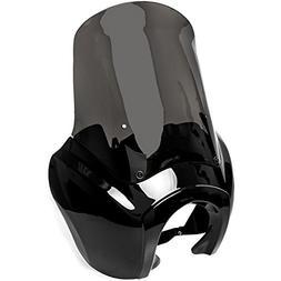 Krator Black & Smoke Tall Fairing Windshield Club Style Kit