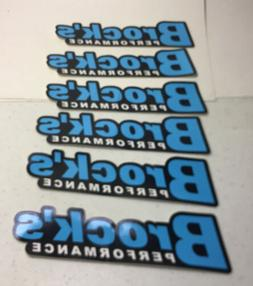 Brocks Performance 6 Decals High Performance Motorcycle Part
