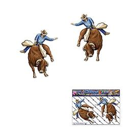 SALE - 2 x BULL RIDER Small RODEO Cowboy Animal Pack Vinyl W