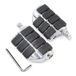 uxcell Chrome Silver Tone Male Mount Dually Highway Motorcyc