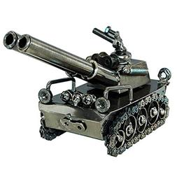 Amperer Collectible Art Sculpture Handmade Metal Tank Model
