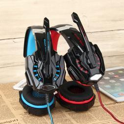 EACH G9000 3.5mm Gaming Stereo Headset USB LED Light Headpho