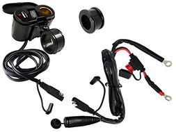 EKLIPES EK1-110B Cobra Black Ultimate Motorcycle USB Chargin