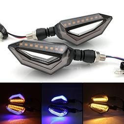 evomosa Universal 12 LED Turn Signal Lights Blinker Front Re