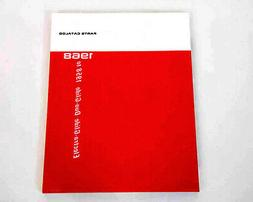 Factory SPARE PARTS CATALOG for Harley 1958 - 1973 Servi-Car
