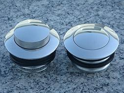 i5 Chrome Flush Pop-Up Gas Caps for Harley Davidson