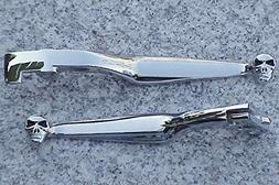i5 Chrome Skull Brake & Clutch Levers for Honda Shadow 600 V