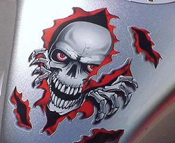 i5 Red Skull Decal Graphic for Honda Kawasaki Suzuki Yamaha