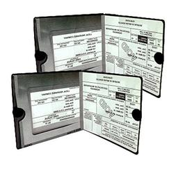 Insurance Document Wallet Holder 2 Pack Motorcycle Truck Vis