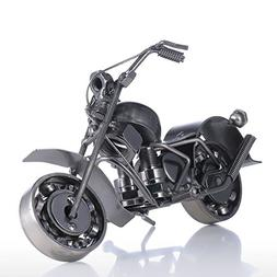 Tooarts Iron Motorcycle Crafts Modern Sculpture Artwork Gift