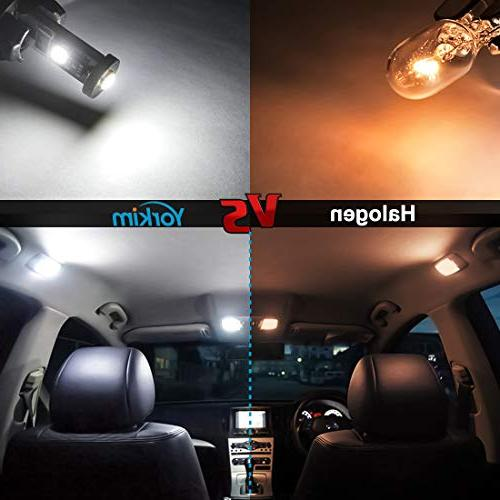 Yorkim Canbus Free bulb White Super Bright Light 3-SMD T10 LED Bulbs Car Courtesy License - T10 194 of