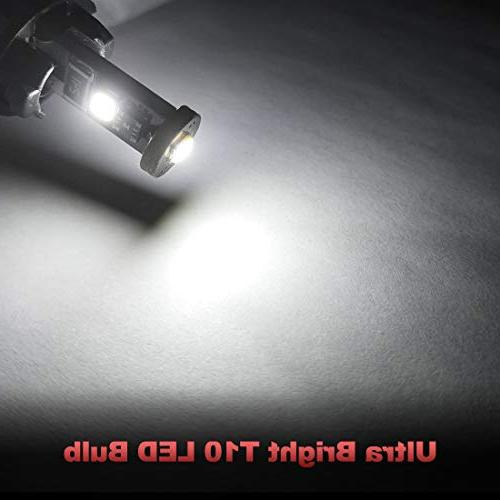 Yorkim Canbus Error Free bulb Light T10 LED Bulbs Car Dome Map Courtesy Plate lights - T10 W5W 194 168 2825 of