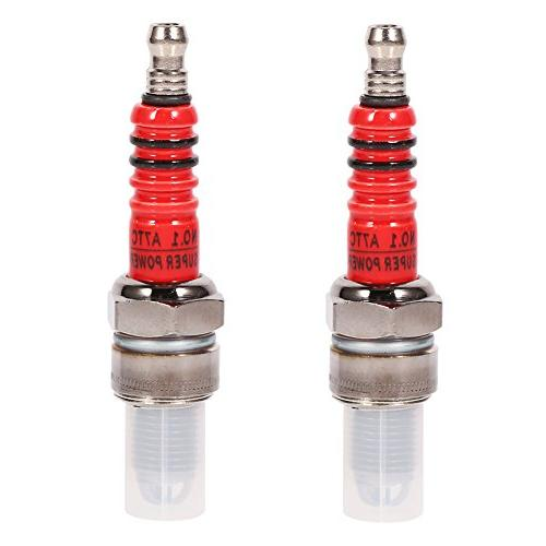 3 Electrode Spark Plug,High Performance Scooter Motorcycle Racing 3  Electrode Spark Plug For Engine GY6 50cc 150cc