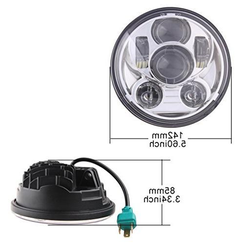 5-3/4 LED Headlight Davidson Motorcycles Chrome