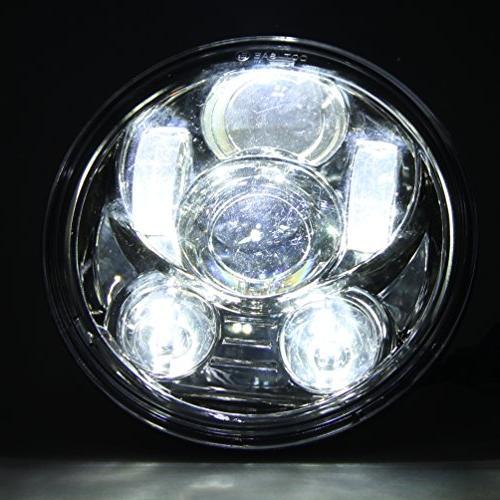 5-3/4 Projector LED Headlight for Harley Davidson Chrome