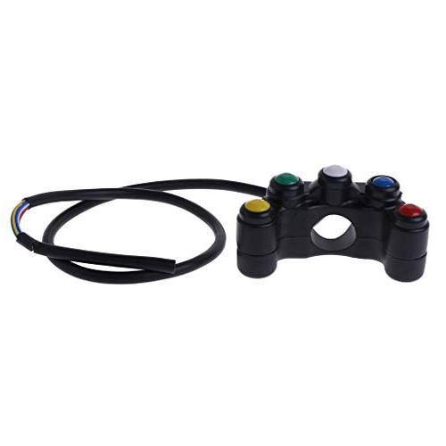 Autone 5 12V Switches 7/8 22mm Handlebar Waterproof