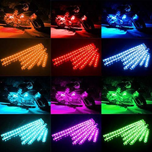AMBOTHER Motorcycle LED Light Accent Neon Lamp Flexible Controller Honda Kawasaki Polaris KTM BMW
