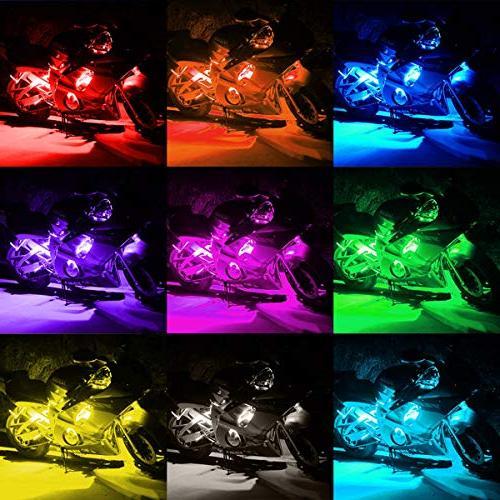 AMBOTHER Light Kit Strips Accent Lights Lamp Remote Controller Harley Davidson Honda Kawasaki Suzuki Polaris BMW