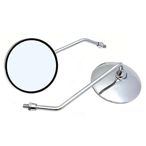 Adjustable Mirror Set - 8mm RH/RH Thread - CHROME Round Shap