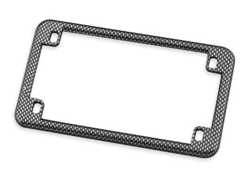 Carbon Fiber Look Emgo Universal Motorcycle License Plate Fr