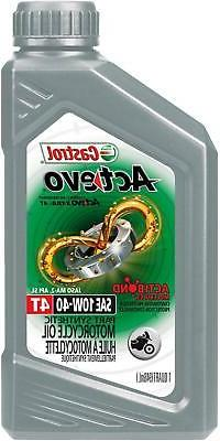 Castrol 06130 Actevo 10W-40 Part Synthetic 4T Motorcycle Oil