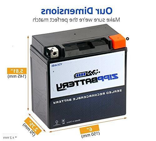 Chrome Battery High Performance-Maintenance Motorcycle Battery