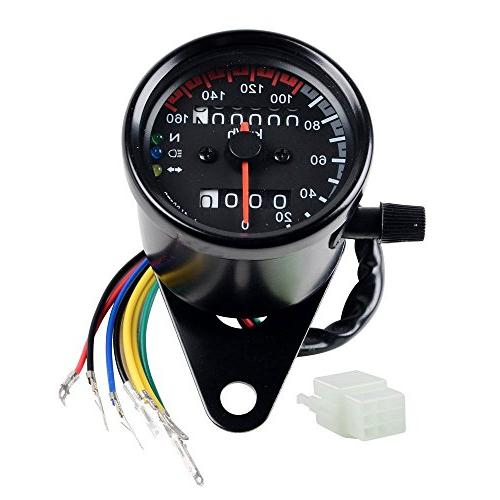 DLLL Dual Speedometer Gauge LED Turn Signal Lamp Kit for Honda Kawasaki Harley
