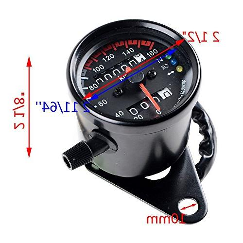 DLLL Universal Dual Speedometer Gauge LED Turn Lamp Kit for Honda Yamaha Suzuki Kawasaki