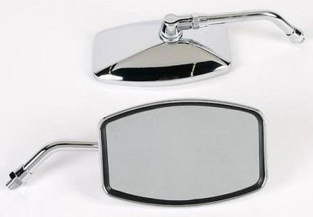 """Emgo Universal """"Big One"""" Motorcycle Mirrors - Honda, Suzuki,"""