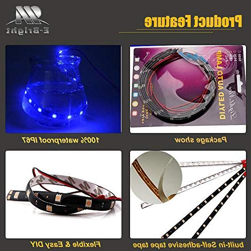EverBright 5050 Flexible LED Strip Waterproof Car Motorcycles Decoration Vehicle with built-in 3M