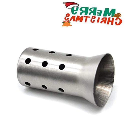 One Pcs Exhaust Pipe Baffte Silencer 51 MM Universal Exhaust