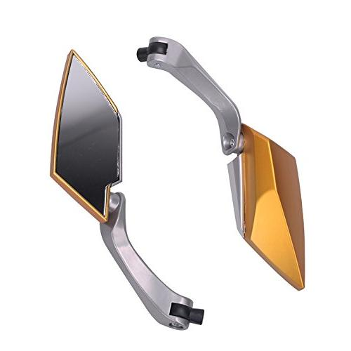 Frenshion Universal Mirrors For Sport Bike Scooter Silver