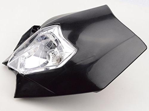 GOOFIT Motorcycle Supermoto Indicator Lampshade KTM EXC Suzuki RMZ Honda XR Bike Motor Black