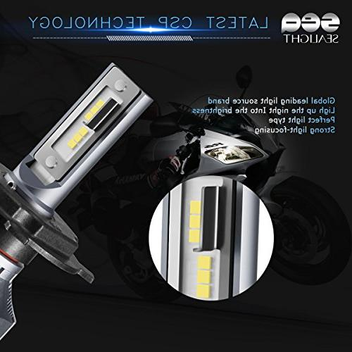 H4/9003 Headlight bulbs- Beam Replacement Conversion Single Bulb 6000LM HID 6000K