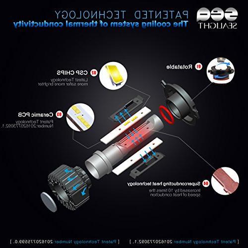 H4/9003 LED bulbs- SEALIGHT Beam Replacement Kit Single Bulb 12V HID
